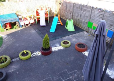 garden with play area