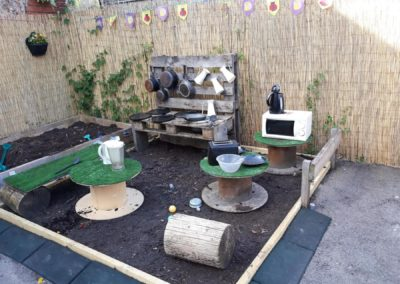 picture of garden with tables